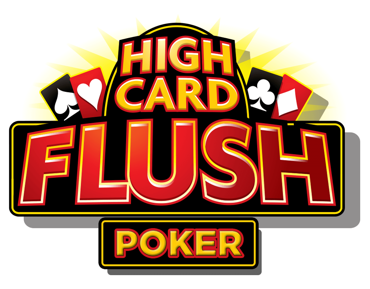 High Card Flush Poker Logo