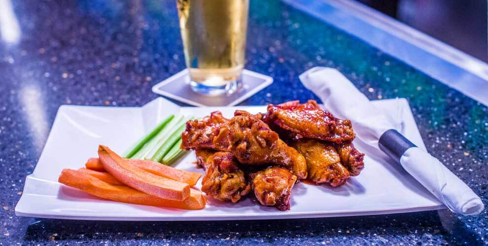 Chicken wings & beer, Dining at Orange City Racing & Card Club