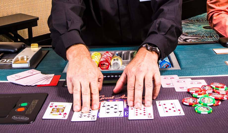 Poker Deal with Cards and Chips, Poker Promotions at Orange City Poker Room