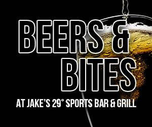 Beers & Bites at Jake's 29 Sports Bar & Grill