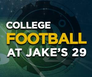Watch College Football at Jake's 29, sports bar, Orange City