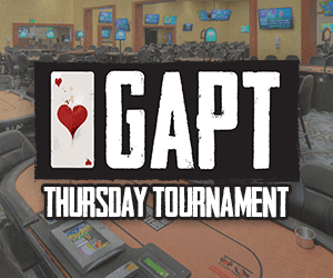 GAPT Thursday Tournament at the Orange City Racing & Card Club