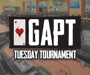GAPT Tuesday Tournament at the Orange City Racing & Card Club