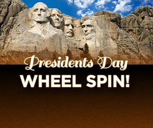 Presidents Day Wheel Spin